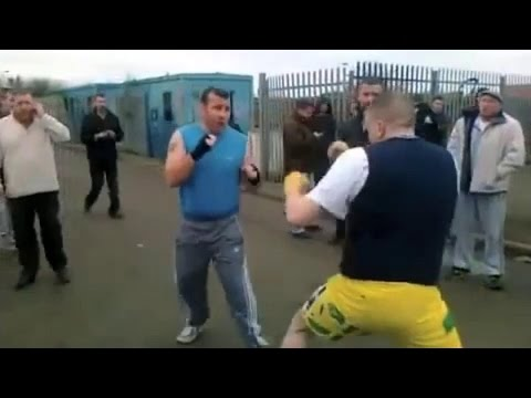 Fight of Romanian gypsies in Southgate, London