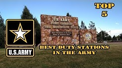 5 best Army duty stations