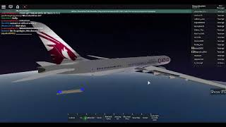 Qatar Airways ROBLOX Flight Review Part 2- Cruising! (AMAZING FLIGHT!)