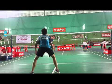 แบดมินตัน Badminton thailand oliver 2015 ชายเดียว 14 next2_Gun