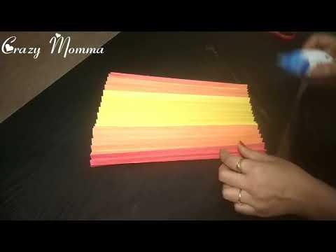 Paper Diya DIY   Crazy Momma   3D Paper Diya