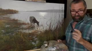 Как Использовать Черные Краски - Урок Живописи Маслом - Юрий Клапоух (2019)
