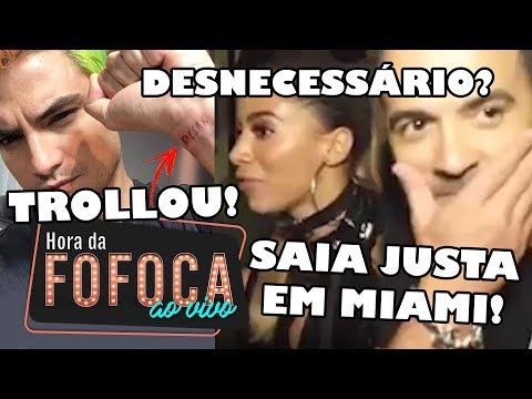🔥Vídeo: Anitta invade entrevista de Luís Fonsi e causa climão  Felipe Neto explica tatuagem