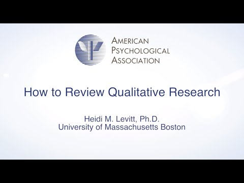 How To Review A Qualitative Research Manuscript