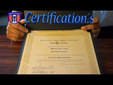 I Completed Job Corps Advance Training, What Did I Received?