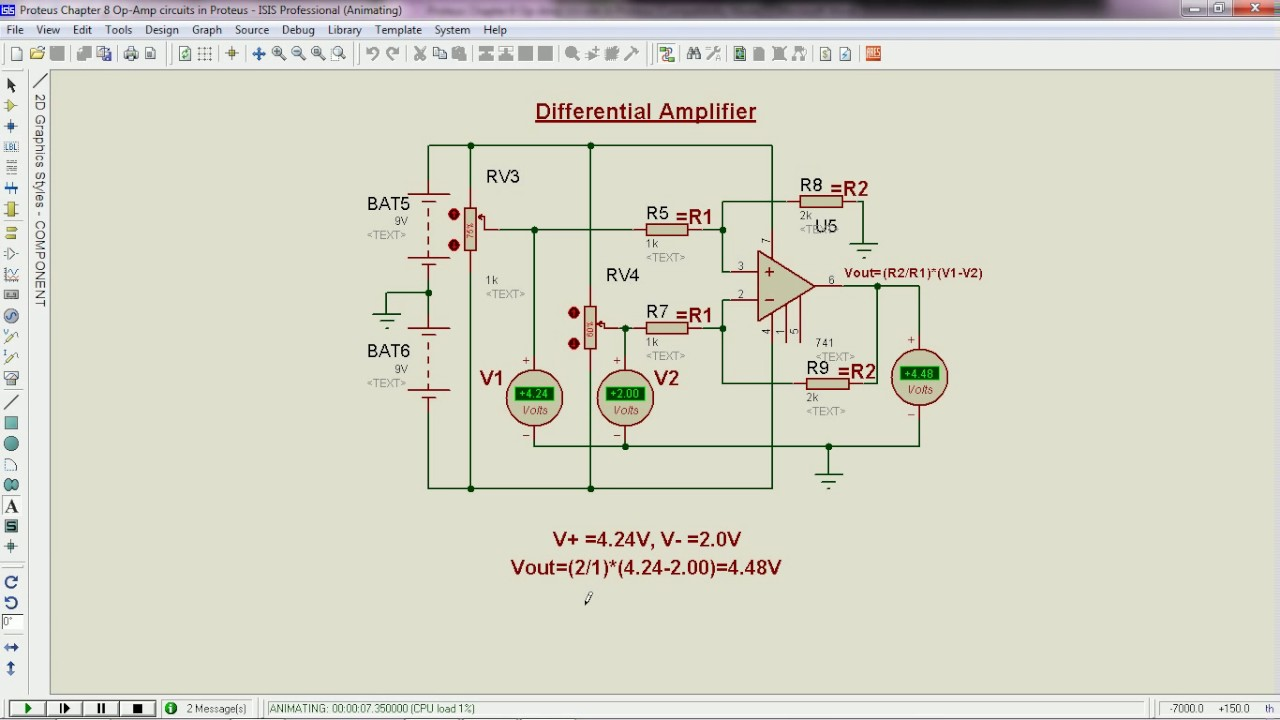 Op Amp circuits in Proteus - Electronic Circuits and Diagrams