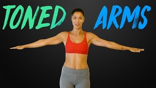 Strong, Sexy Arms with Sanela | Beginners Workout & Shoulder Stretches, At Home Fitness Exercises