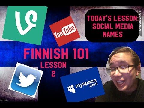 FINNISH 101- Social Media