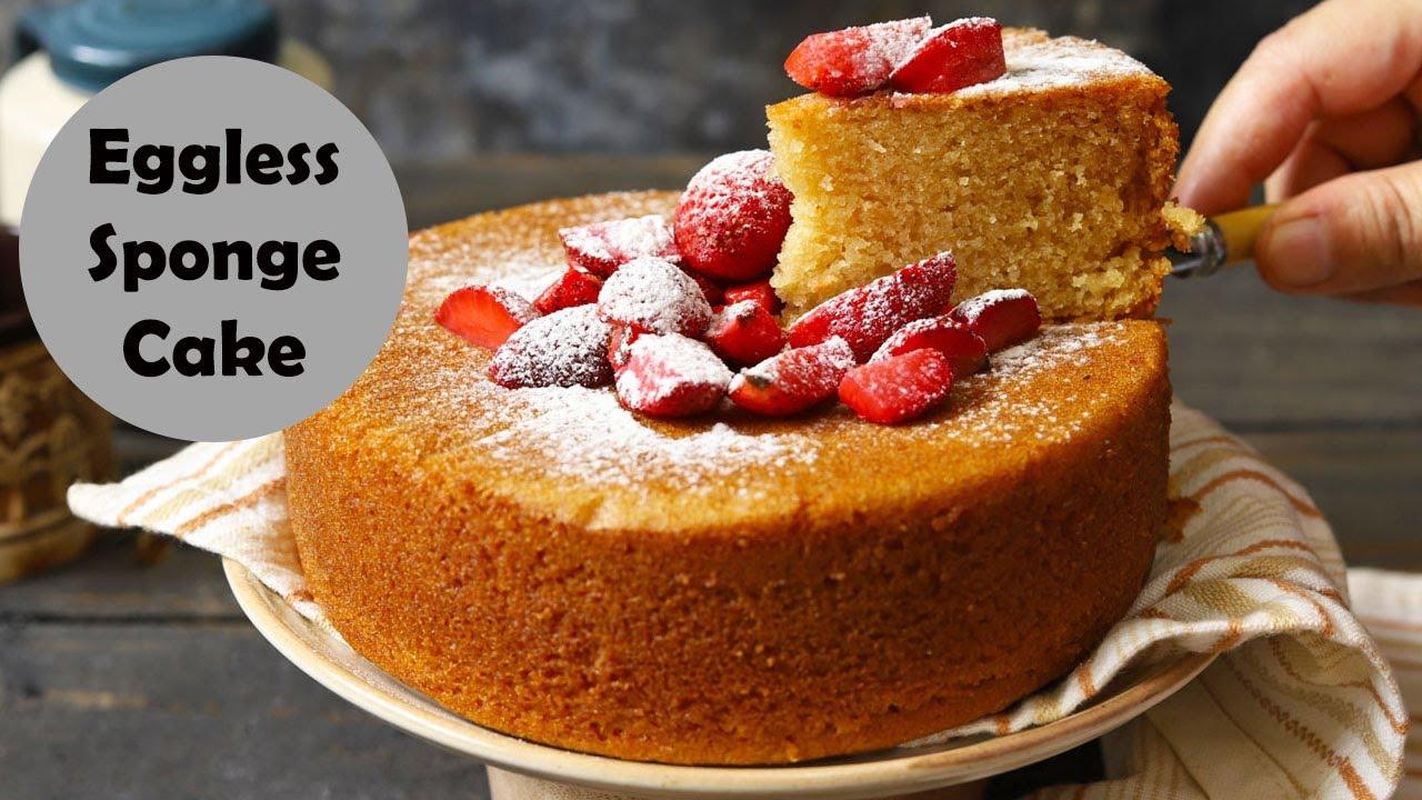 Eggless Sponge Cake Video Recipe Fun Food Frolic