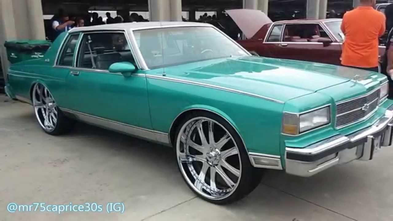 WhipAddict: 86' Caprice Landau squattin on Asanti 26s at Stuntfest2K14 - YouTube