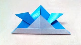 How To Make An Origami Samurai Helmet / Hat.