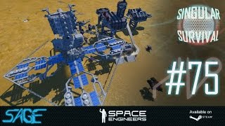 Space Engineers, End of the Turrets! (Singular Survival, Ep 75)