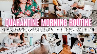 QUARANTINE MORNING ROUTINE 2020 | MOM OF 2 | PRODUCTIVE SCHEDULE