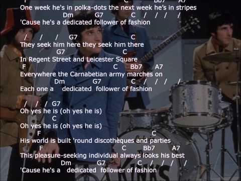 'Dedicated Follower of Fashion'  - with lyrics & chords - strum your ukulele along with The Kinks