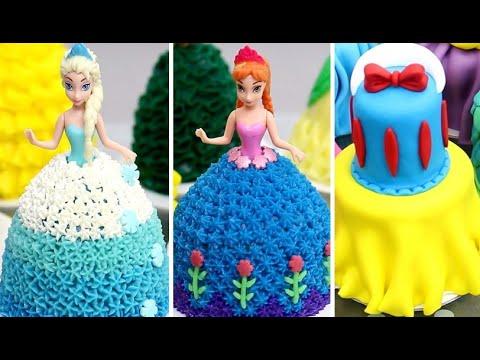 10 Amazing Disney Princess Mini Cakes Compilation Easy Cake Decorating For Birthday Youtube
