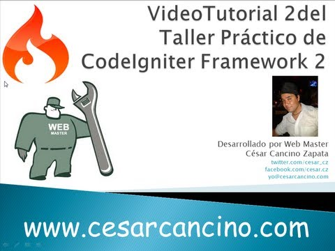 VideoTutorial 2 del Taller Práctico de Codeigniter Framework. Introducción a controladores y vistas