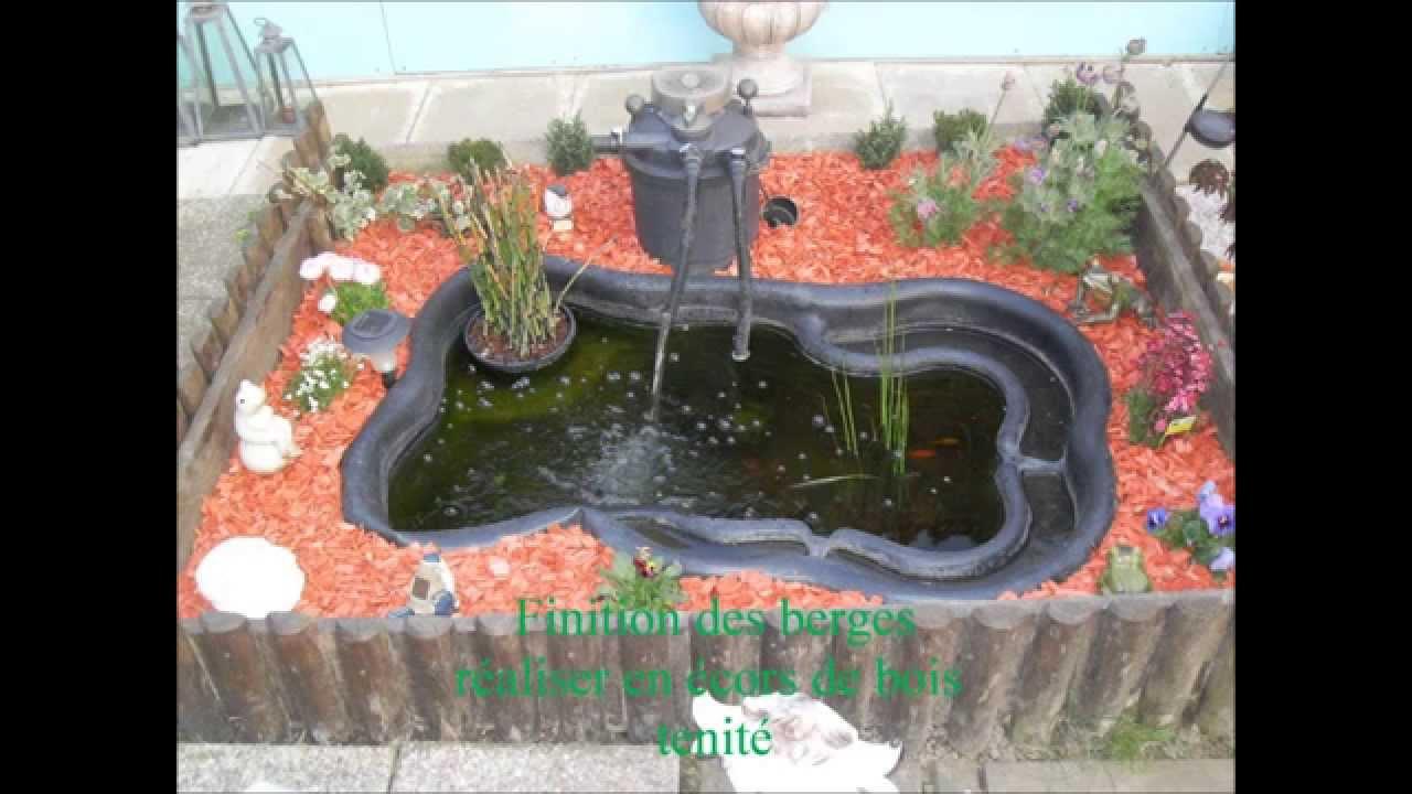 Nettoyage du bassin youtube for Bassin artificiel jardin