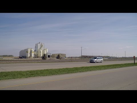 Lethbridge Alberta To Coaldale Town. Driving Tour Of Highway In Canada. Countryside.