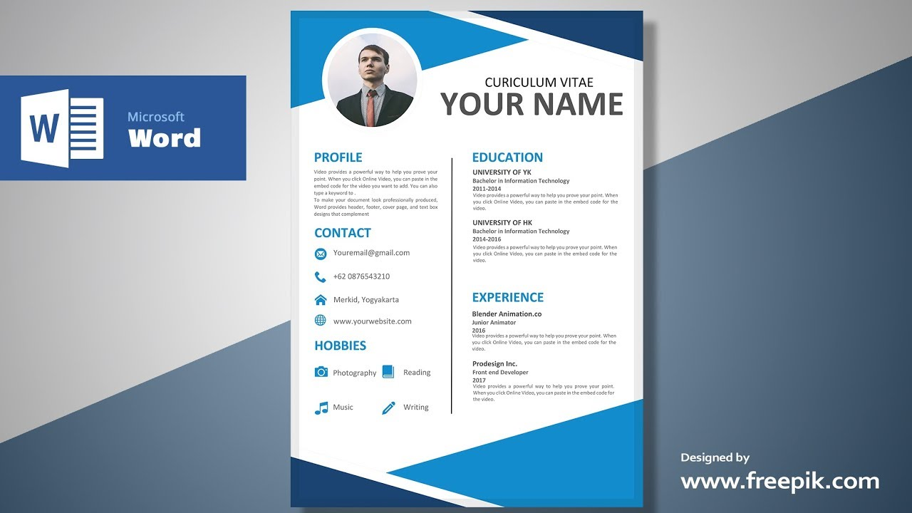 Awesome Blue Resume Design Tutorial in Microsoft Word  Silent     Awesome Blue Resume Design Tutorial in Microsoft Word  Silent Version    CV  Designing