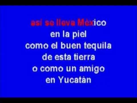 KARAOKE MEXICO EN LA PIEL (TONO BAJO)