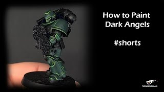 How to Paint Dark Angels #shorts