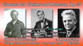 Nielsen: Clarinet Concerto, Goodman & Gould (1966) ニールセン クラリネット協奏曲 グッドマン