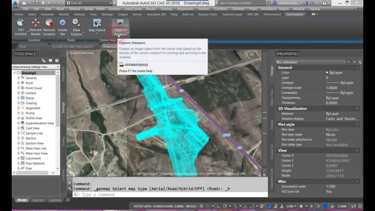 Autocad Civil Projeksiyon Bilgileri Ve Google Harita