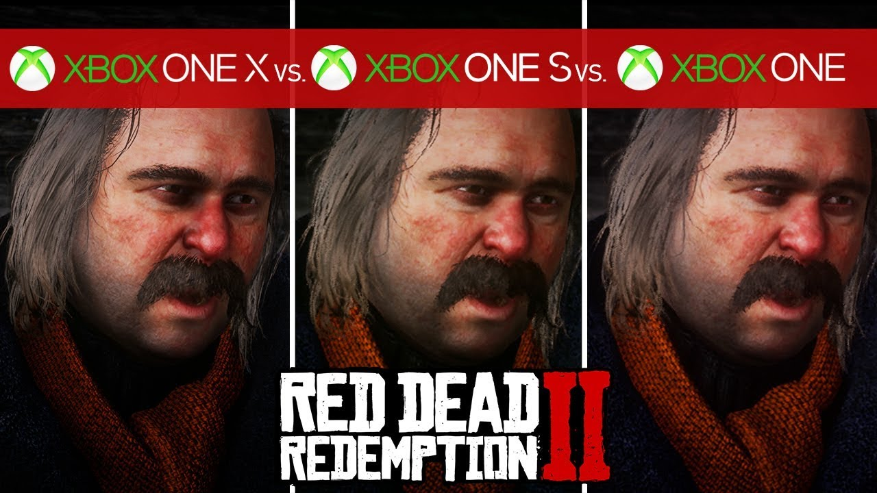 Red Dead Redemption 2 Comparison - Xbox One X vs  Xbox One S vs  Xbox One