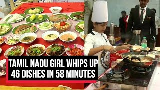 Tamil Nadu girl whips up 46 dishes in 58 minutes, bags world record title | Cobrapost