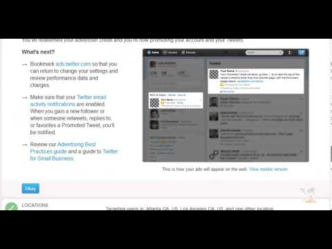 Twitter Sponsored Advertising Tips for Business
