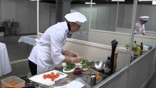 """Конкурс """"Ресторанный мир"""" приготовление салата 1"""