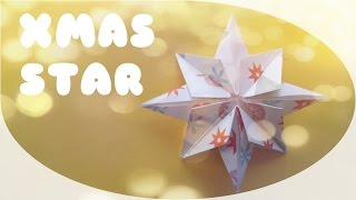Origami Christmas Star - Origami Easy