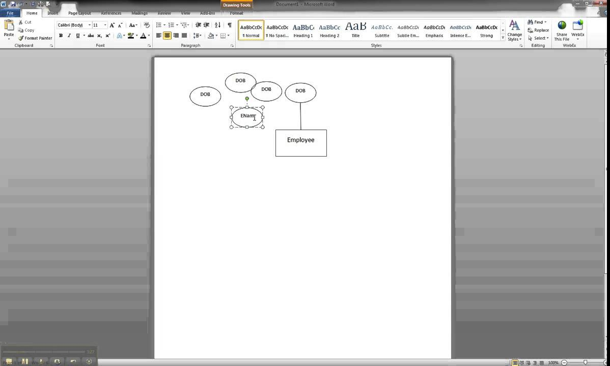 Er Diagram In Ms Word Part 3