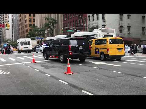 UNITED STATES SECRET SERVICE UNIT CRUISING BY ON 2ND AVE. DURING 2017 U.N. GENERAL ASSEMBLY.