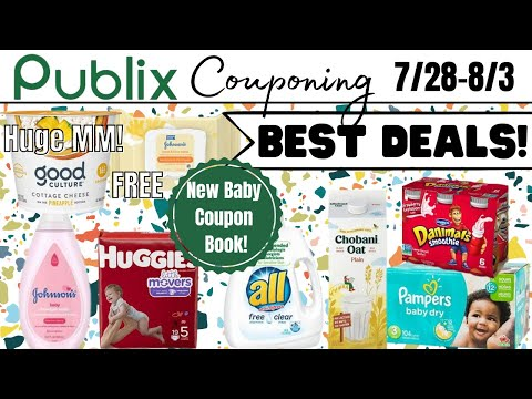 Publix BEST Couponing Deals 7/28-8/3 (7/29-8/4)   NEW Baby Coupon Book! Huge MM Using Aisle!