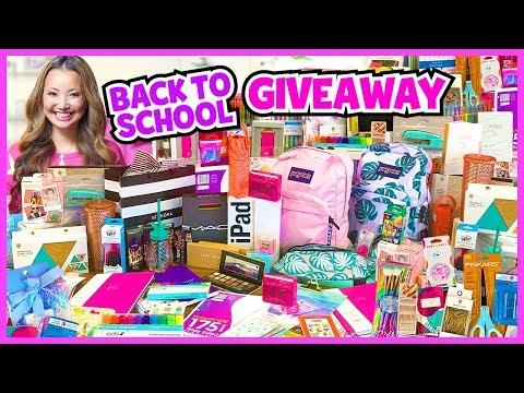 BIGGEST BACK TO SCHOOL GIVEAWAY EVER! 2019 (iPad, School Supplies Haul, Makeup)