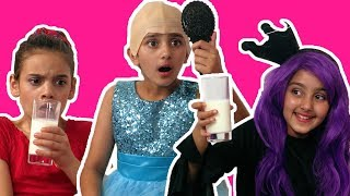 PRINCESS SLEEPOVER SCANDAL🛏 Malice Controls The Princesses! - Princesses In Real Life | Kiddyzuzaa