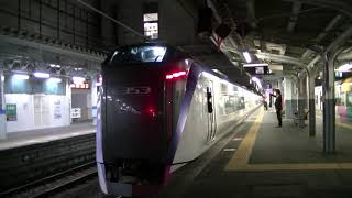E353系特急スーパーあずさ36号新宿行(松本発車) Series E353 LTD.EXP SUPER-AZUSA No.36 for Shinjuku at Matsumoto