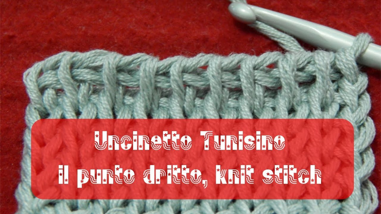 Uncinetto tunisino - Punto dritto  knit stitch - YouTube