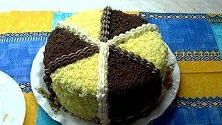 """Торт """"Махровый"""".  """"Кудряш"""".Бисквитно  кремовый торт."""