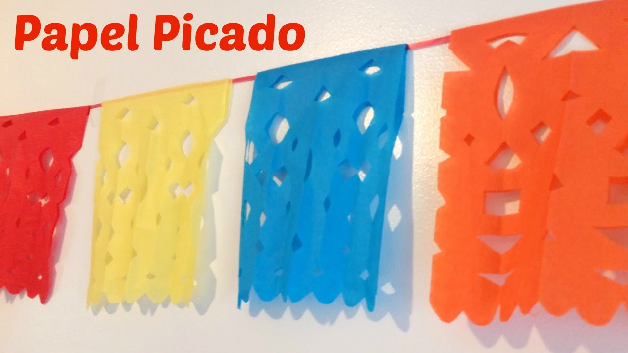 How to Make Papel Picado (Mexican Streamers) - YouTube