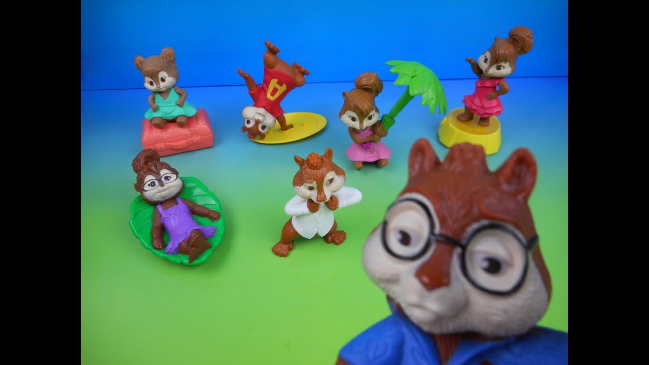 2011 Alvin And The Chipmunks 3 Chipwrecked Set Of 7 Mcdonald S Happy Meal Movie Toy S Video Review Youtube