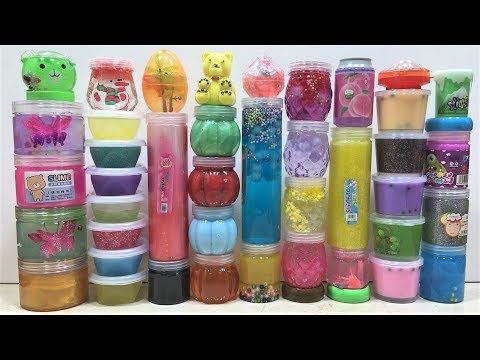 Mixing all my Store Bought Slimes !!! Slimesmoothie Relaxing Satisfying Slime Videos
