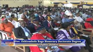 Gov. Oshiomhole bags Honorary Doctorate Degree in Public Administration