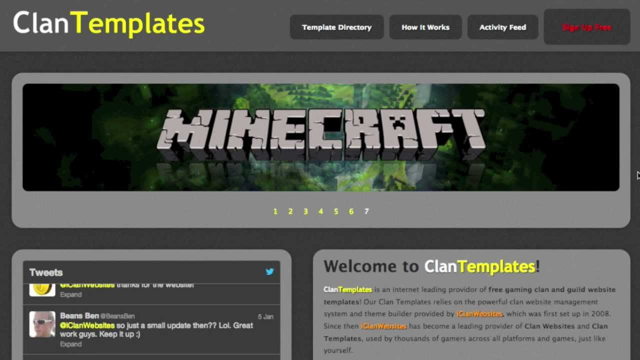 Make a clan template for free - YouTube