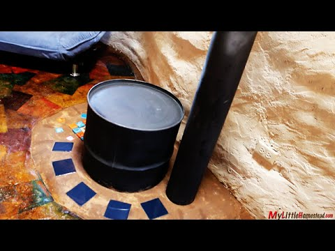 Our Earth Bag Construction with Rocket Stove Mass Heater, Paperbag Floor & Pallet Ceiling