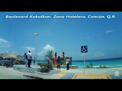 Boulevard Kukulkan, Zona Hotelera, Cancún QR, 20 Km de Recorrido en Auto