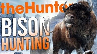 the Hunter Gameplay - Hunting Bison! - New Map Whiterime Ridge