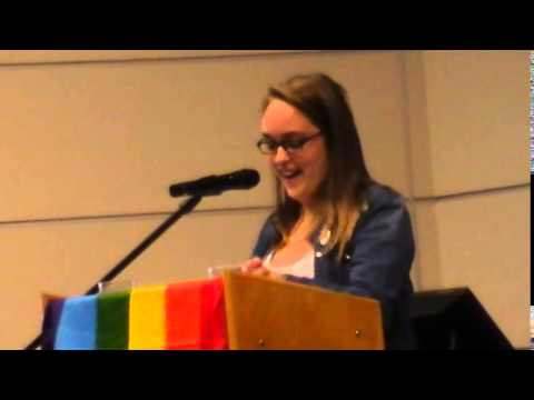 MUN Pride Panel  72315  Brittany Byrnes & Michael Walsh  remarks