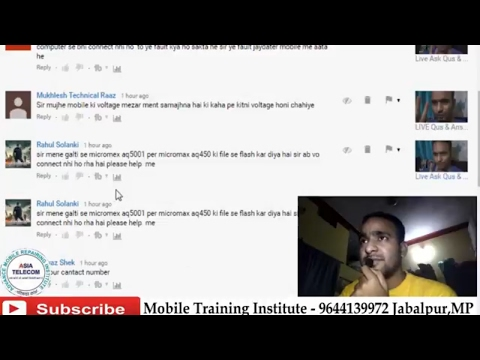 [Hindi/Urdu] All Comments Ans | Live| Chip level Mobile android repairing & training | Asia Telecom